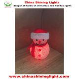 スノーマンLEDの球根の電池式のクリスマスの照明