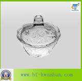 Tazón de fuente de cristal hermoso del caramelo con el buen precio para la cocina