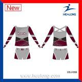 Cusotm niñas sublimación barato Cheerleading Uniformes Conjuntos