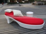 Mtc402高品質の屋外の家具の庭のテラスの藤のChaise浜の日曜日のLounger