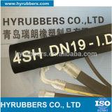 De rubber Draad van het Roestvrij staal vlechtte Flexibele Plooiende Rubber Hydraulische Slang