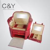 Chaud-Vente de la caisse en cuir à extrémité élevé de luxe de bijou