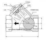 Valvola di ritenuta dell'acciaio inossidabile con la sfera di gomma
