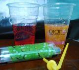 使い捨て可能な印刷されたプラスチックジュースのコップ