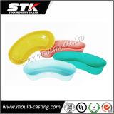 Vierecks-Süßigkeit-Farben-Tellersegment, Plastiktellersegment, Frucht-Tellersegment, Nahrungsmitteltellersegment, flache Platte, Rutschen-Beweis