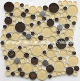 Tuiles de mosaïque en verre de forme ronde