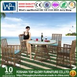 現代余暇の屋外の家具の藤の庭の柳細工のダイニングテーブルおよび椅子(TG-1303)