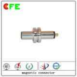 Mâle imperméable à l'eau et connecteur magnétique femelle de C.C