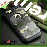 Cubierta al por mayor impresa camuflaje del teléfono celular de TPU para el iPhone