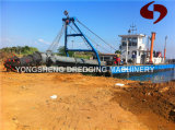 Cortador Suction Sand Dredger con Dredge Depth el 15m