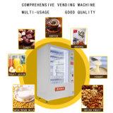 Beba jugo y leche y fruta y máquina expendedora de Alimentos