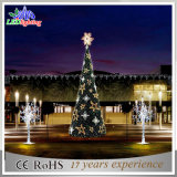 Luz gigante ao ar livre da decoração da árvore da espiral do Natal do diodo emissor de luz do verde