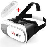 Vr 유리 Google 마분지 가상 현실 3D 유리 기어 Vr 상자 2.0 버전 헤드폰 + Bluetooth 3.0 먼 관제사 3D Vr 상자 II