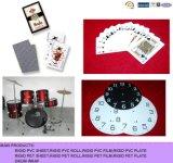 PVC для листа PVC играя карточек белого для играя карточки