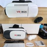 capacete virtual + Bluetooth de Vr dos auriculares do cartão da caixa 2.0 de Vr do jogo do cartão dos vidros do jogo de 3D Vr