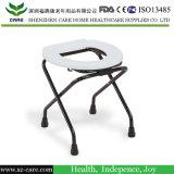 Cadeira do Commode do aço inoxidável com assento para pés