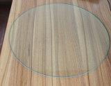 vidro Tempered liso redondo de 10mm para a parte superior da mesa redonda
