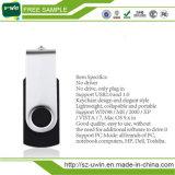 2016 Gratis Logo Plastic Pen Drive USB del eslabón giratorio unidad flash (UWIN-003)