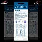 Batterie alkaline 1.5V AG11 Lr721 de cellules de bouton de vente chaude