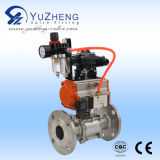 2PC Ball Valve con Pneumatic Actuator con FM Thread e