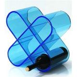 Affichage acrylique de bouteille de vin, support de tasse acrylique de vin