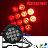 luz impermeable al aire libre de la IGUALDAD de 12PCS 10W 4in1 LED
