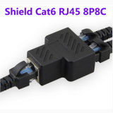 CAT6 RJ45 8p8c Plug to Dual RJ45 Splitter Network Ethernet Patch Cord Adapter com Shield