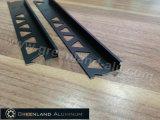L'aluminium profile L équilibres de forme pour la tuile avec la couleur noire anodisée