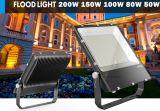 Освещение 100W светов потока 200W датчика дневного света Dimmable 150W 80W 50W 30W 20W 10W напольное 200 ватт прожектора СИД