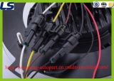 Preto de lâmpadas da parte dianteira do farol do diodo emissor de luz/cromo