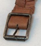 女性のレトロのローラーのバックルの革によって手作りされるベルト(HD-3264)