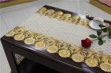corredor longo fino dourado da tabela do laço do PVC da largura de 50cm