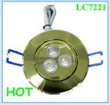 шкаф отверстия 70mm СИД отрезока 3*1W вниз освещает в офисе/спальне/магазине ювелирных изделий
