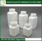 PET 50ml weißes Quadrat-Tablette-Medizin-Plastikflasche
