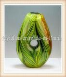Florero de cristal del arte de la decoración multicolora hermosa