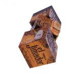 Caja de empaquetado del vino del solo Tequila rotatorio de la botella