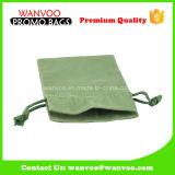 緑の綿のドローストリングの茶コーヒーギフトの包装袋