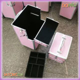 Colored Striped ABS Vanity Trolley Beauty Case (SATCMC014)