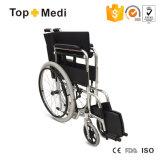 Cadeira de rodas deficiente de aço manual com a roda traseira rápida de Relese