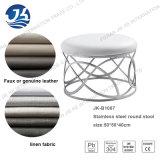 Linen табуретка ткани или кожи с ногой 50*50*40cm нержавеющей стали самомоднейшей конструкции круглой