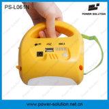 Linterna solar portable y lámpara de 4500mAh 6V con el cargador del teléfono para acampar o el alumbrado de seguridad (PS-L061)