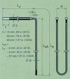 1800grade Mosi2棒のケイ素のモリブデンの発熱体