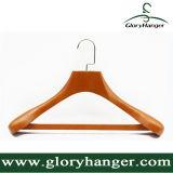 De Houten Hangers van de Steen van de luxe met de Vierkante Staaf van de Misstap, Laag/de Hanger van het Kostuum