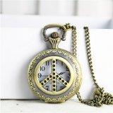 Reloj Pocket grande de reloj del buho del reloj del OEM del collar retro del regalo