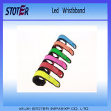 Preiswerter gedruckter Firmenzeichen Sport-Art LED blinkender Wristband