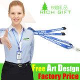 Lanière en nylon faite sur commande de cadeau promotionnel pour le porte-cartes d'identification