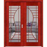 Portes en verre rouges de constructeur de la Chine doubles