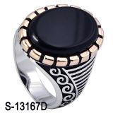 Sterlingsilber-Mann-Ring des Fabrik-Großverkauf-925 mit Achat
