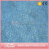 Strato di cristallo 24X40cm della resina chiara dello zaffiro Ferro-sulla maglia del Rhinestone