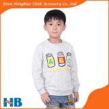 Enfants vêtant T-shirt de chemise de tissu chaud de collet d'O le long